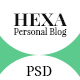 Hexa- Personal Blog PSD Template - ThemeForest Item for Sale