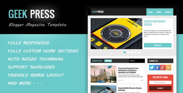Geek Press - Responsive News & Magazine Blogger Szablon