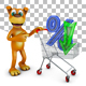 Dog with trolley and percent - GraphicRiver Item for Sale