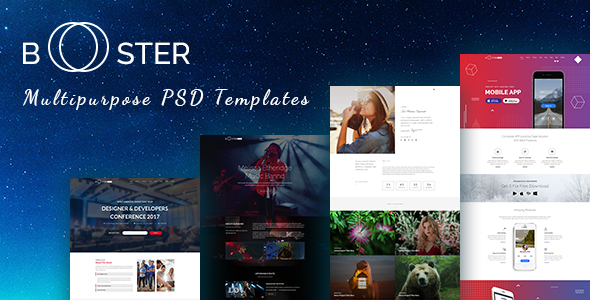 Booster -  Business and multipurpose PSD Template