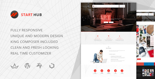 StartHub — Clean Multipurpose Business WordPress Theme