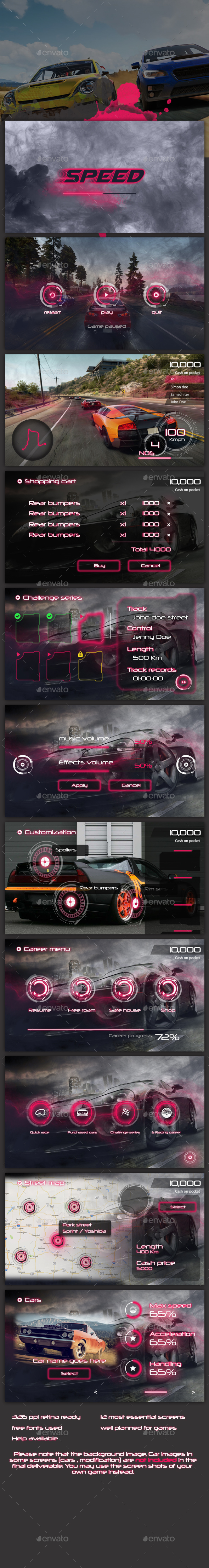 Car Game Graphics, Designs & Templates from GraphicRiver