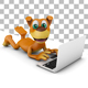 Dog with a Laptop - GraphicRiver Item for Sale