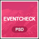 Eventcheck - Meeting, Conference & Event PSD template - ThemeForest Item for Sale