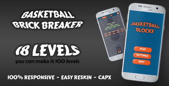 Basketball Brick Breaking Game