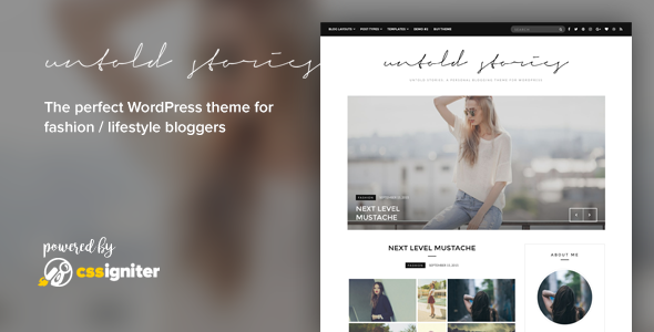 Fashion Blog Theme - Untold Stories