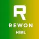REWON - Multipurpose HTML Template - ThemeForest Item for Sale