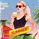 Summer 80's Synthwave Flyer Template - GraphicRiver Item for Sale
