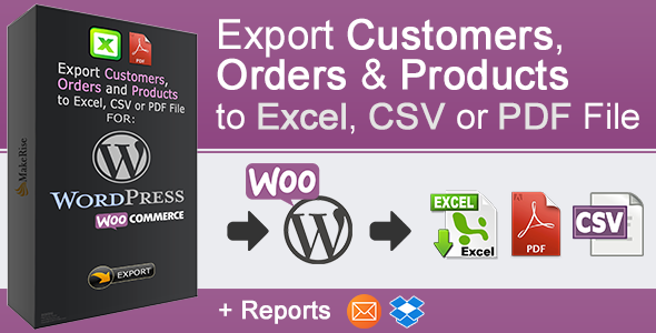 WooCommerce Orders and Products Export Download
