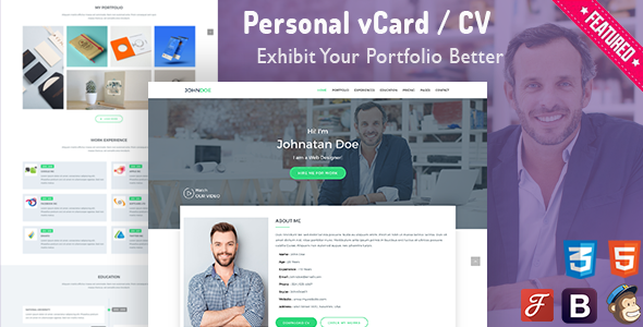 iCard - Personal vCard Template