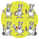 Rabbit Holds Various Items Mascot Pack Part 1 - GraphicRiver Item for Sale