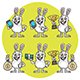 Rabbit Holds Various Items Mascot Pack Part 2 - GraphicRiver Item for Sale