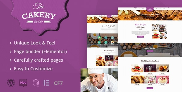 Cakeryshop - Cake Bakery WordPress Theme