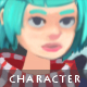Female Lancer - Character Sprite - GraphicRiver Item for Sale