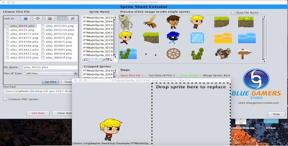 Arkusz Sprite Edytor Plist dla Texture Packer i BuildBox