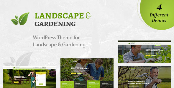 Landscape - WordPress Theme for Gardening & Landscaping