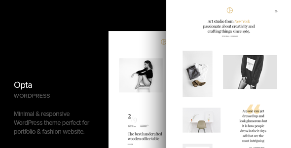 Opta - Minimal Portfolio and Photography WordPress Theme