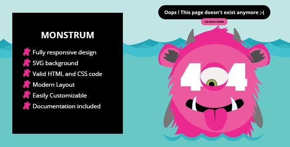 Monstrum - A Responsive 404 Page