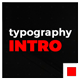 Typography Intro - VideoHive Item for Sale