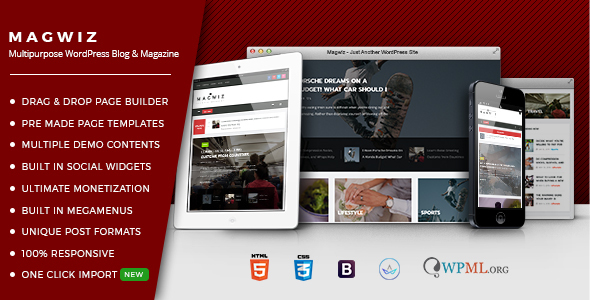 MagWiz - Multipurpose WordPress Magazine & Blogging theme