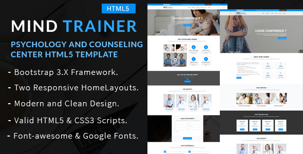 Mind Trainer - Psychology and Counseling Center HTML5 Template