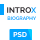 IntroX One Page Biography Psd Template - ThemeForest Item for Sale