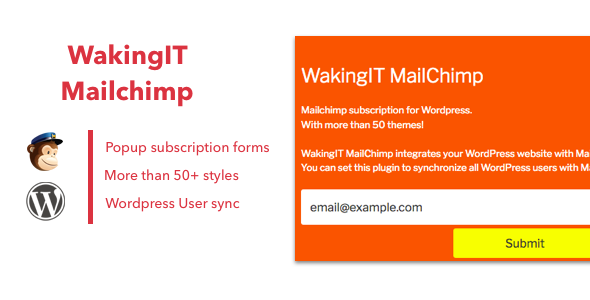 WakingIT Mailchimp Newsletter Wordpress Plugin