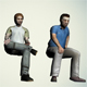 Low poly model of sedentary people - 3DOcean Item for Sale