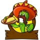Sympathetic Cactus With a Mexican Taco - GraphicRiver Item for Sale