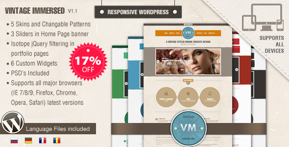Vintage Immersed - Resto WordPress Theme
