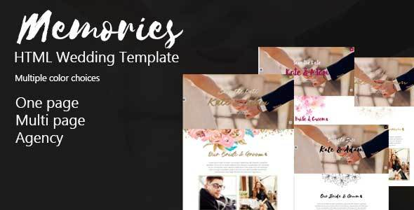 Memories-Html wedding and Agency Template