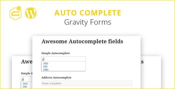 Gravity Forms Auto Complete (+address field) Download