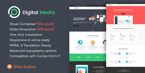 Digital Media - Online Marketing WordPress theme