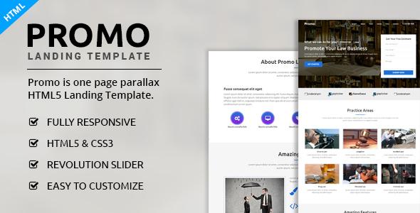 Promo - Multipurpose Landing Page
