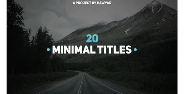 20 Minimal Titles