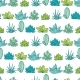Vector Blue Green Stripes Seamless Repeat Pattern - GraphicRiver Item for Sale