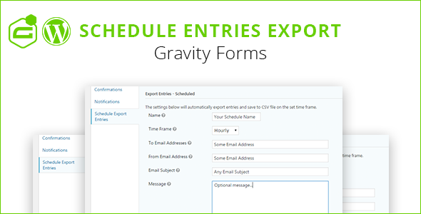Gravity Forms Schedule Entries Export Download