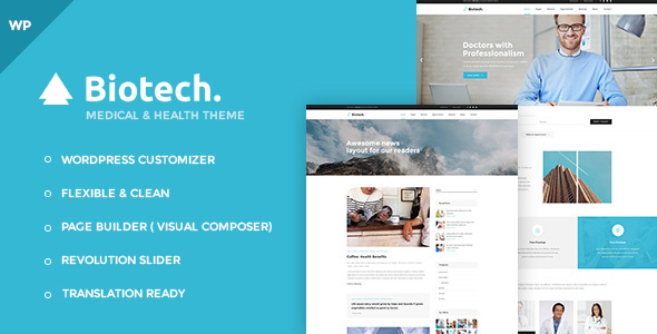 Biotech - Flexible Medical and Health WordPress Theme