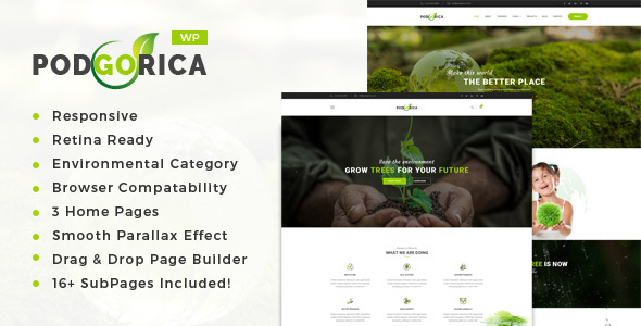Podgorica - Environment and Renewable Energy WordPress Theme