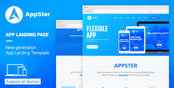 Appster - Landing Page Muse Template