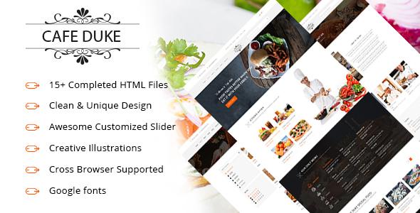 Cafe-Duke - Restaurant HTML5 Template