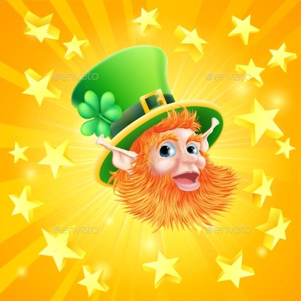 St Patricks Day Leprechaun Background