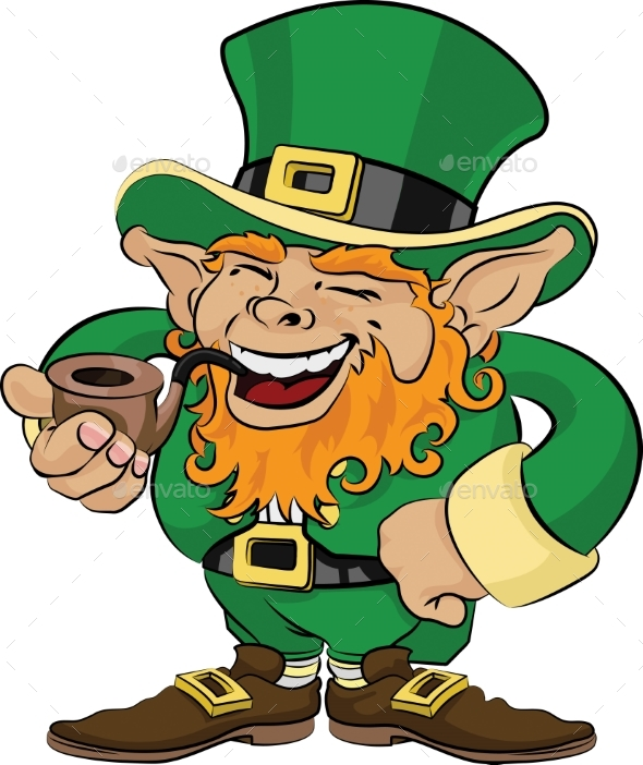 Illustration of St. Patrick's Day Leprechaun