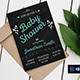 Chalkboard Shower Invitation Template - GraphicRiver Item for Sale