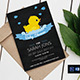 Chalkboard Rubber Duck Birthday Invitation - GraphicRiver Item for Sale