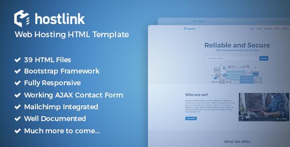 Hostlink - Web Hosting HTML Template