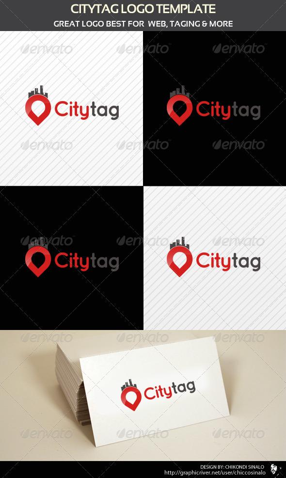 City Tag Logo Template
