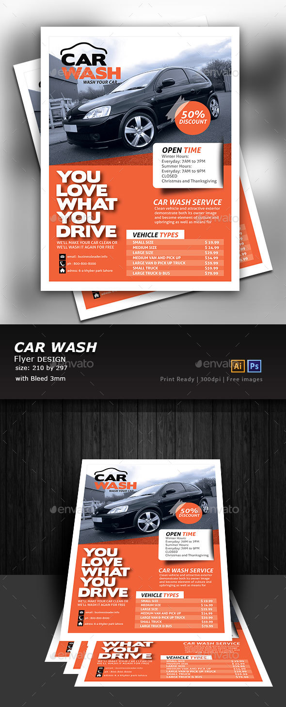 Car Wash Graphics, Designs & Templates from GraphicRiver