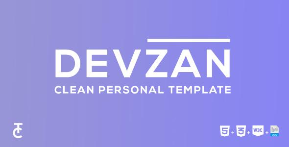 Devzan - Clean Personal HTML5 Template