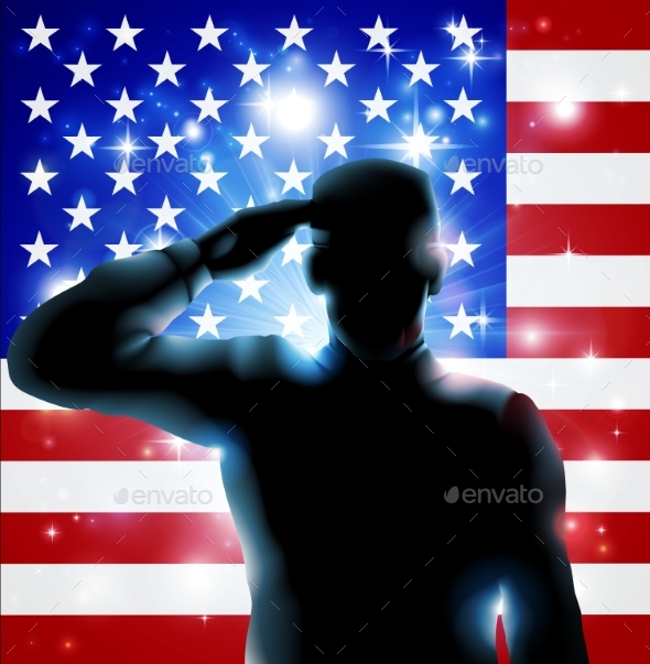 4th of July or Veterans Day Illustration